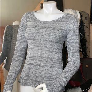 Hollister sweatershirt sz small lace back  detail